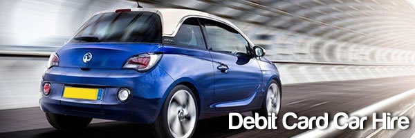 debit card car hire