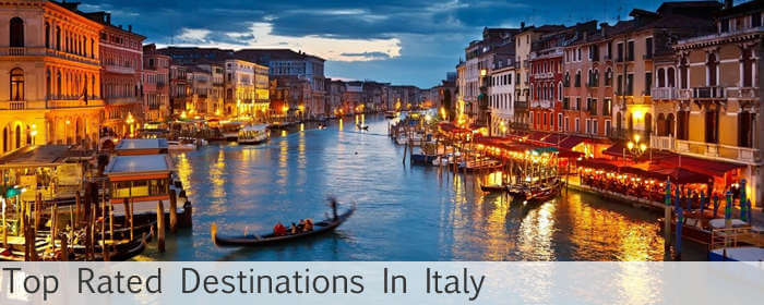 top rated destinations in italy
