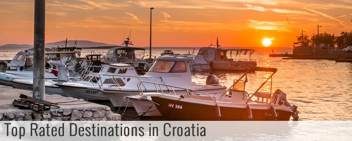 Top rated destinations in Croatia